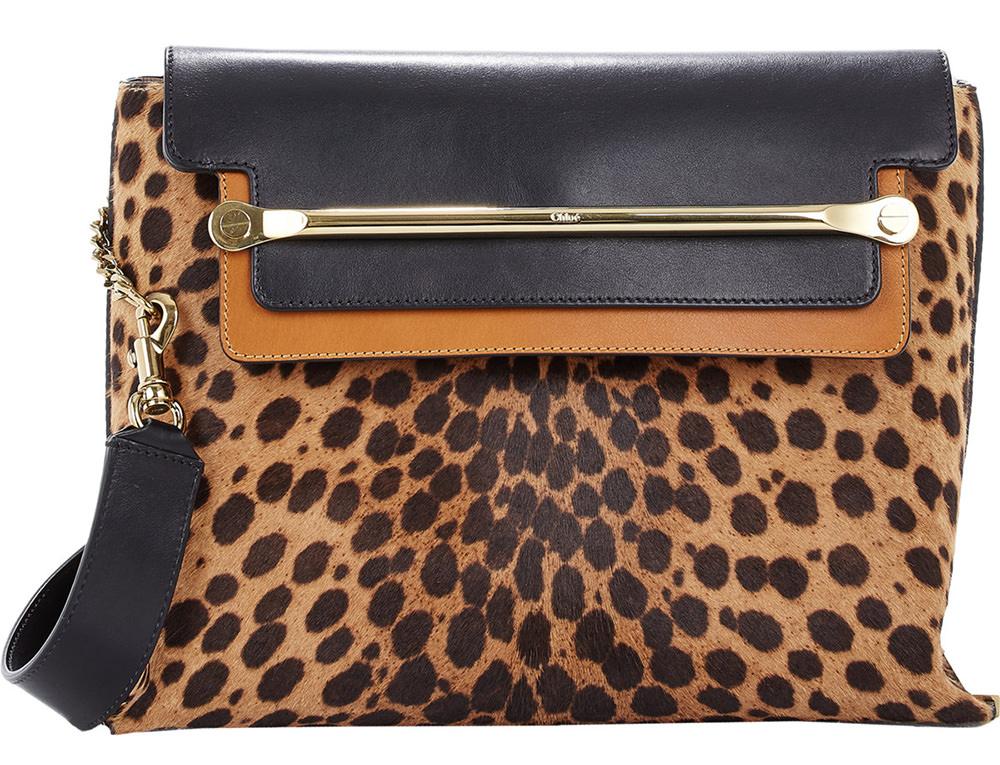 Chloe Clare Leopard Shoulder Bag