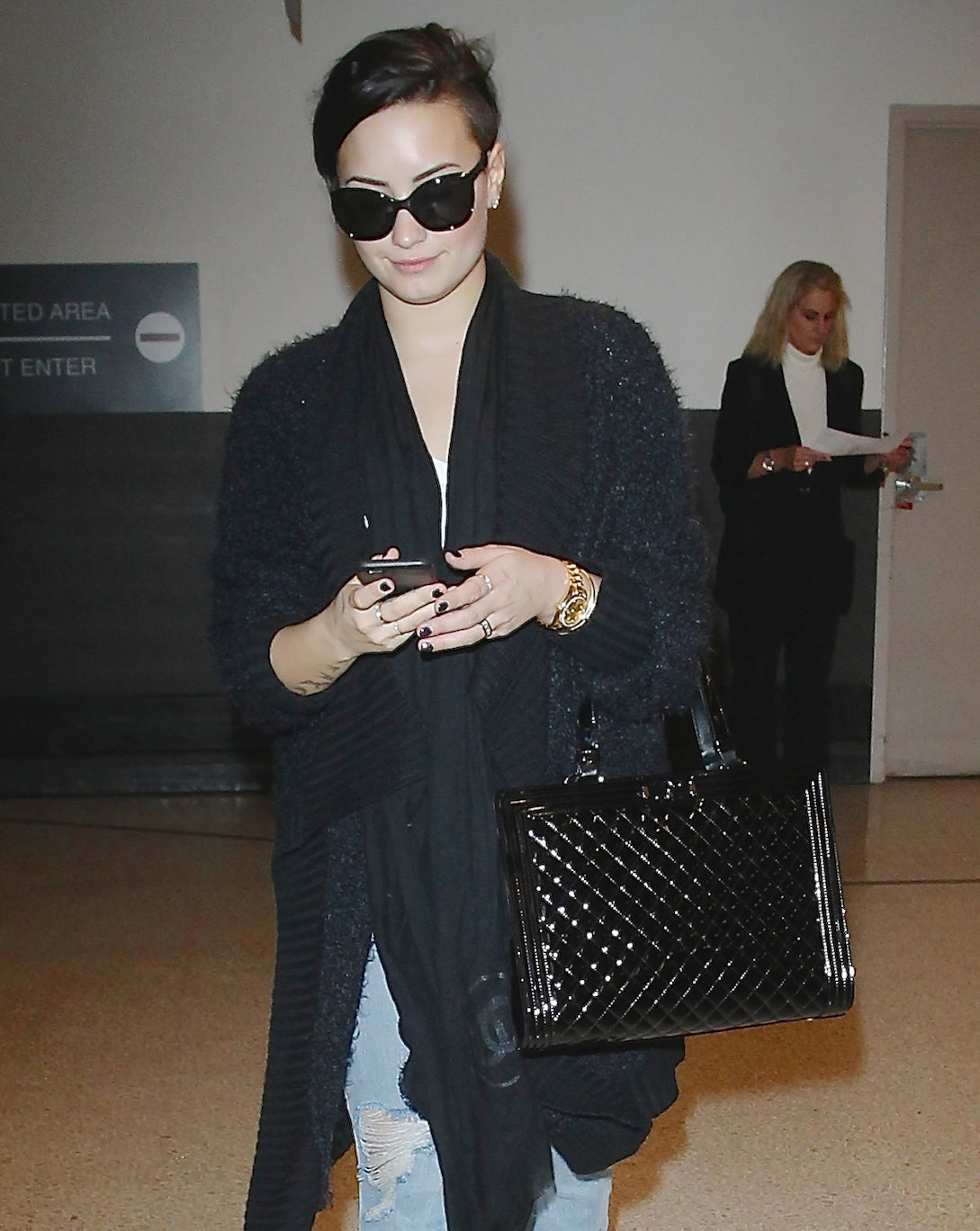 Demi Lovato at LAX