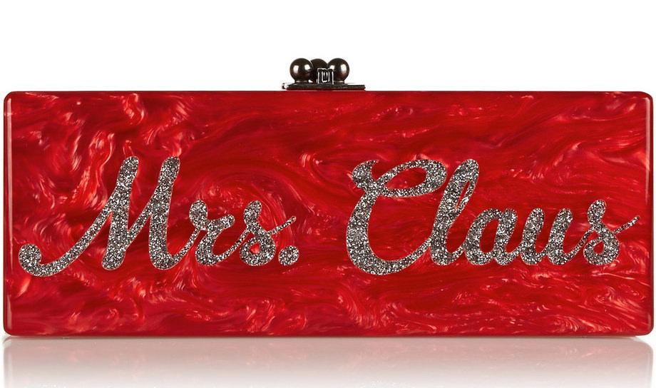 Edie Parker Flavia Mrs. Claus Clutch