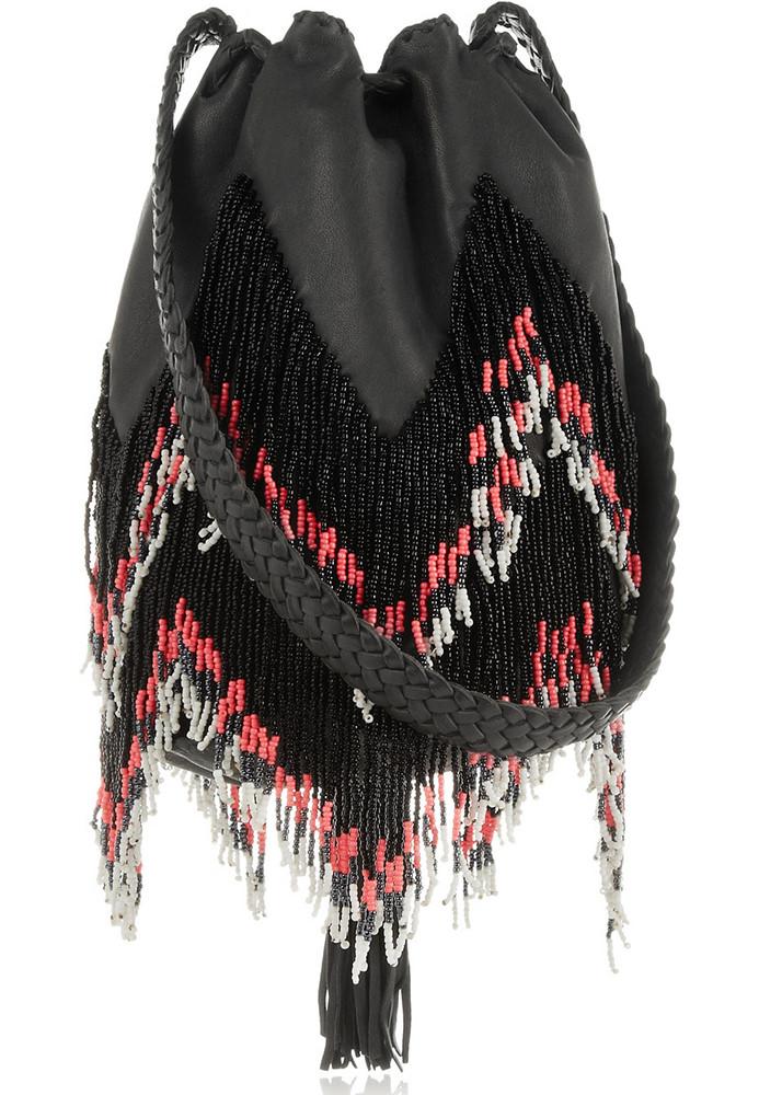 FINDS x En Shalla Beaded Leather Bag