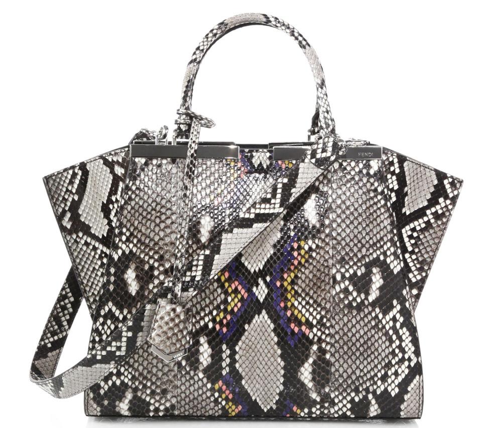Fendi Petite 3Jours Snakeskin Bag