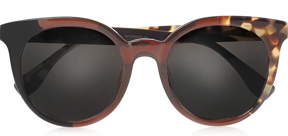 Fendi Round-frame Acetate Sunglasses