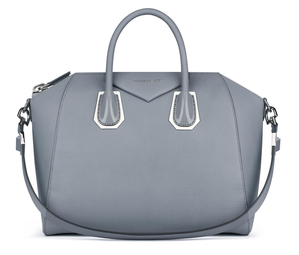 Givenchy Antigona Enamel Bag Grey