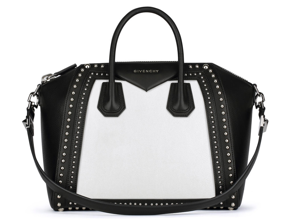 Givenchy Bicolor Studded Antigona Bag