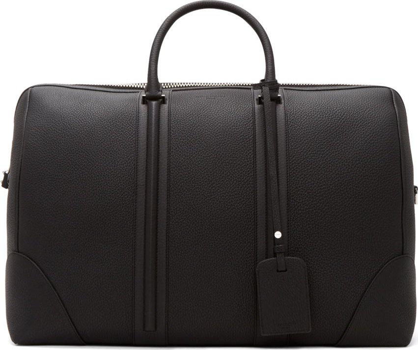 Givenchy Black Leather Weekender Bag