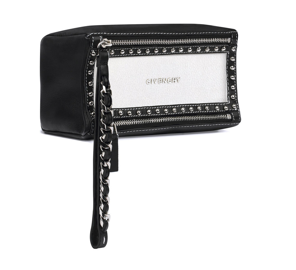 Givenchy Pandora Studded Bicolor Clutch