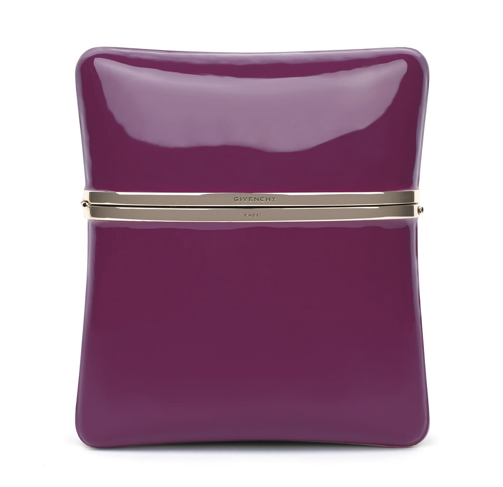 Givenchy Purple Enamel Clutch