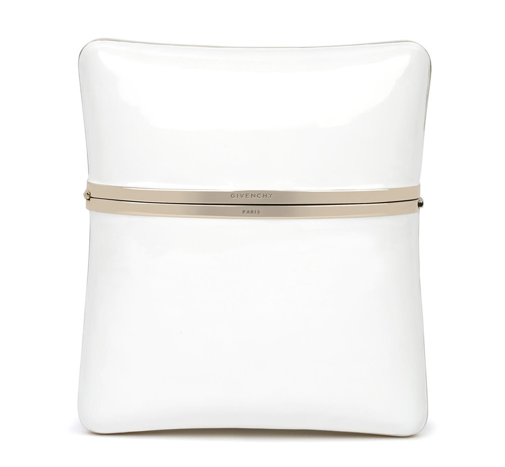 Givenchy White Enamel Clutch