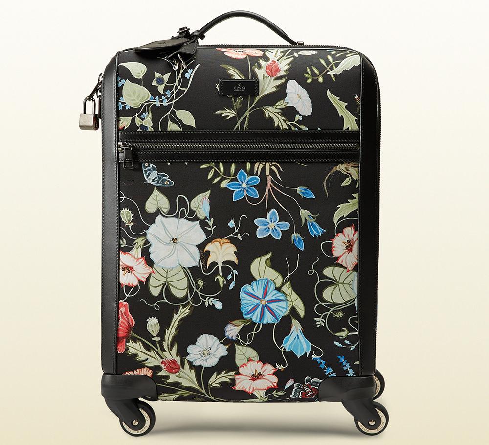 Gucci Flora Kinight Print Canvas Wheeled Carry-On Syuitcase