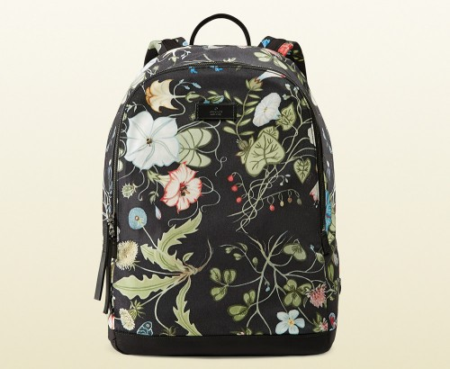 Gucci G-Active Flora Knight Print Canvas Backpack