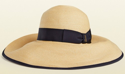 Gucci Natural Straw Wide-Brimmed Hat