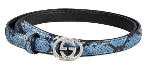 Gucci Python Skinny Belt