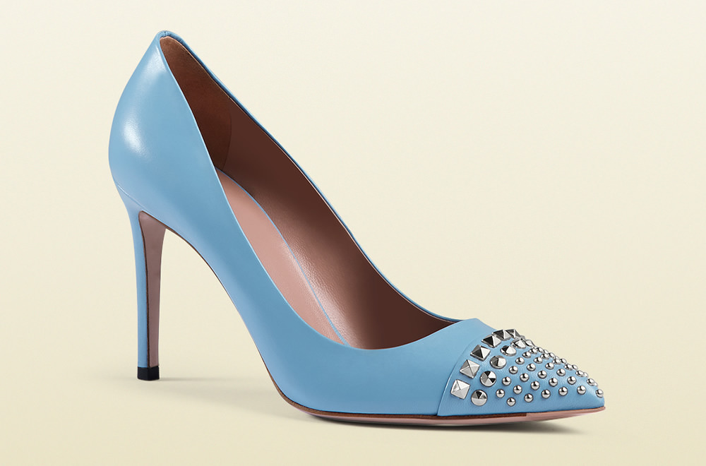 Gucci Studded Leather Pump