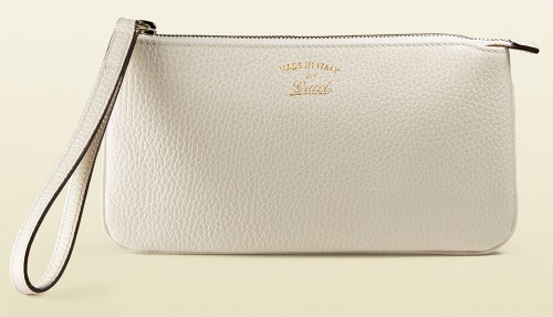Gucci Swing Leather Wristlet