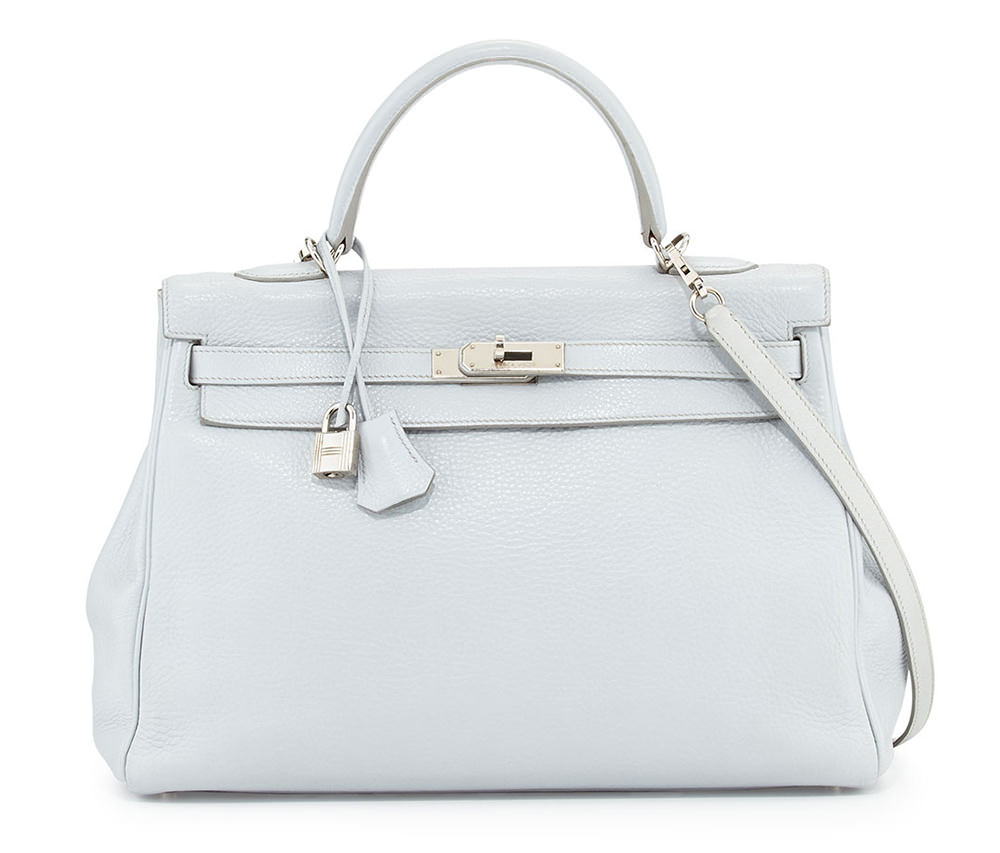 Hermes Arctic Blue Kelly Bag
