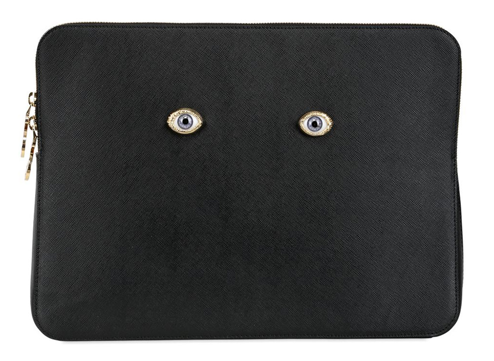 Ines Figaredo Leather Eye Clutch