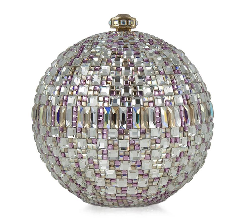 Judith Leiber New Sphere Crystal Minaudiere