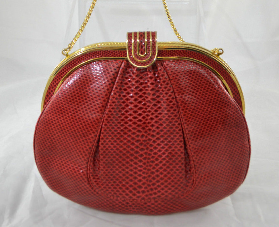 Judith Leiber Vintage Snakeskin Evening Bag