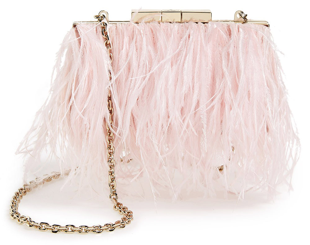 Kate Spade Evening Belles Feather Mimi Clutch