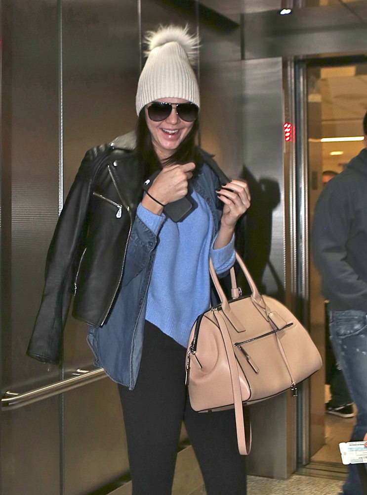 Kendall Jenner arrives in the midnight hour at LAX in Los Angeles