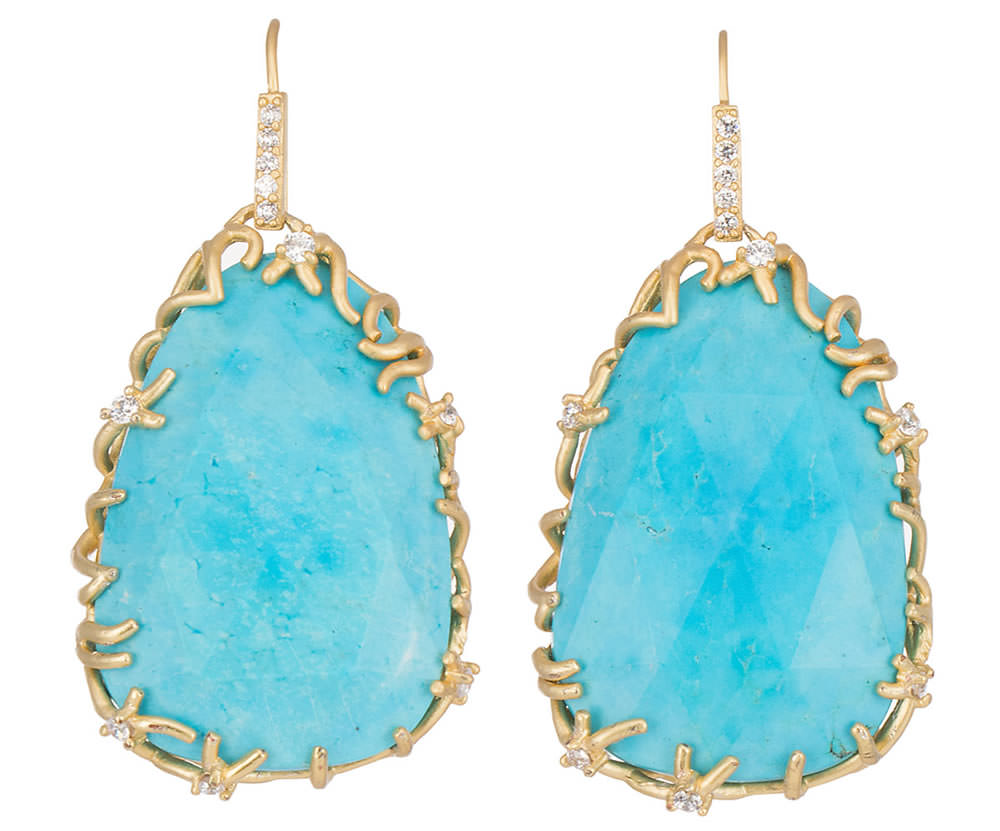Kendra Scott Large Branch-Bezel Drop Earrings