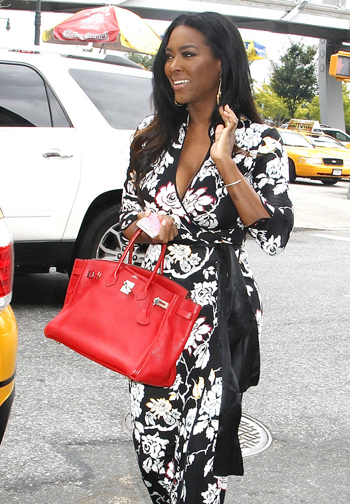 'Real Housewives of Atlanta's' Kenya Moore outside the Serena Williams Signature Statement by HSN show for NYFW S/S 2015