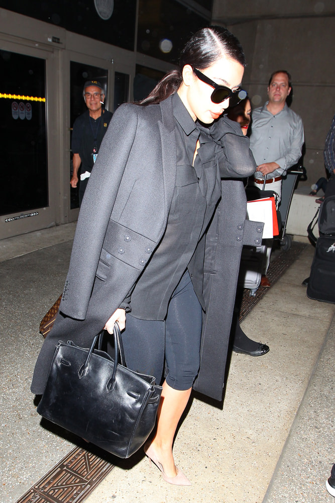 Kim Kardashian seen arriving at Los Angeles International Airport