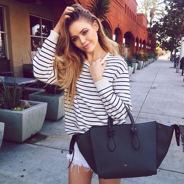 Kristina Bazan Celine Black Knot Bag