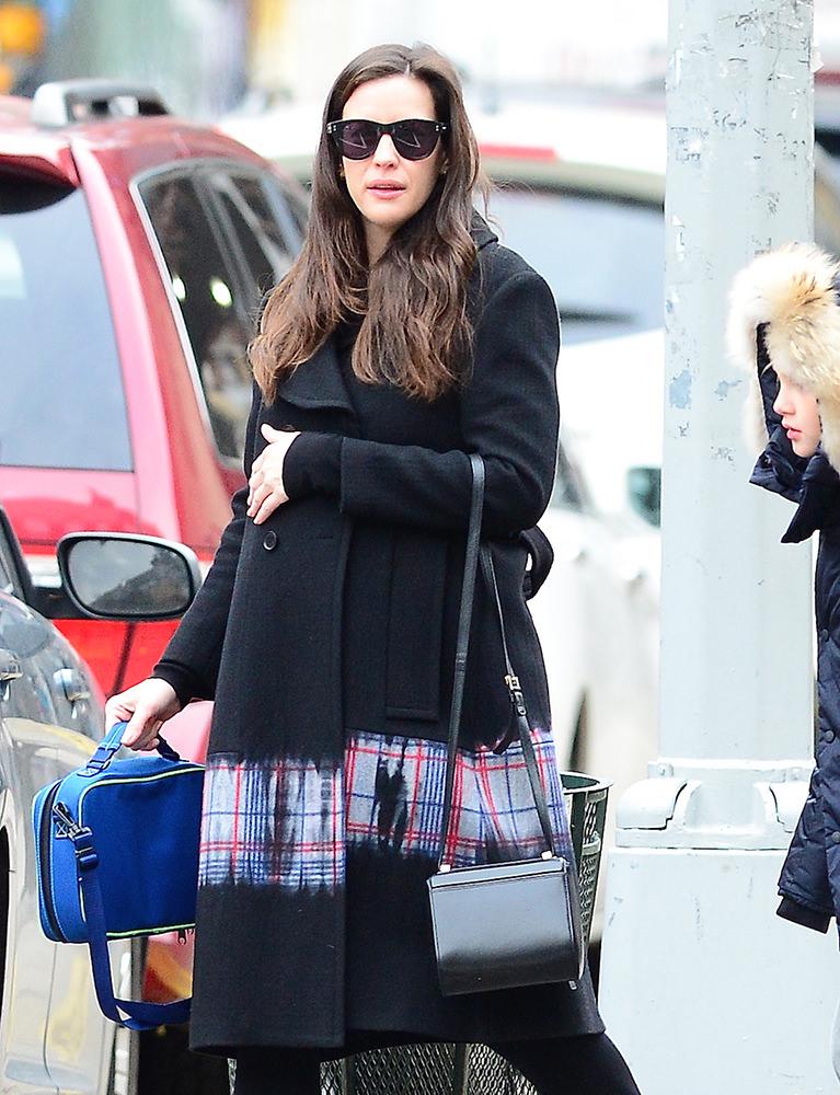 Liv Tyler walks her son Milo to school in NYC