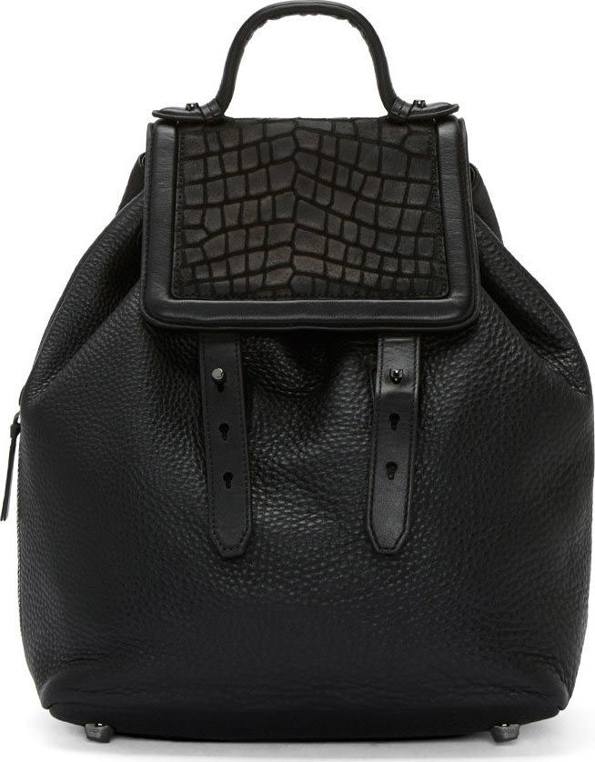 Mackage Black Leather Tanner-F4 Backpack
