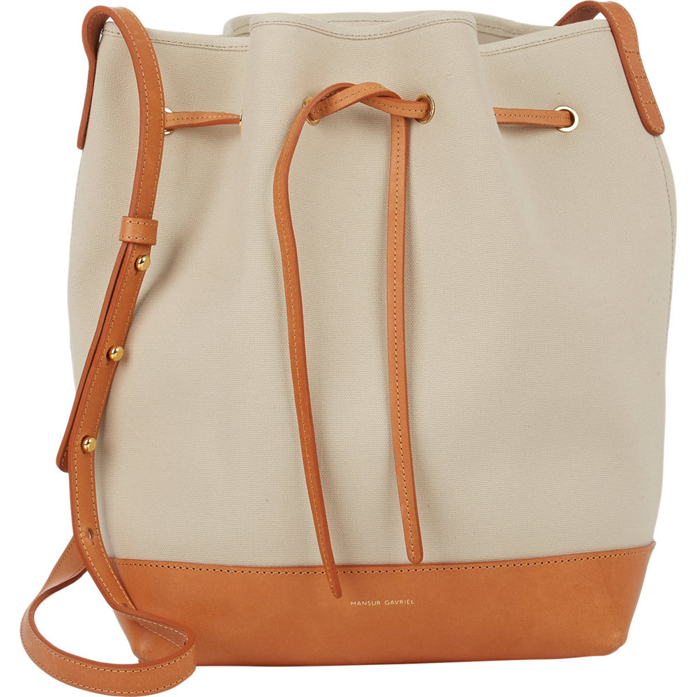 Mansur Gavriel Large Canvas Bucket Bag
