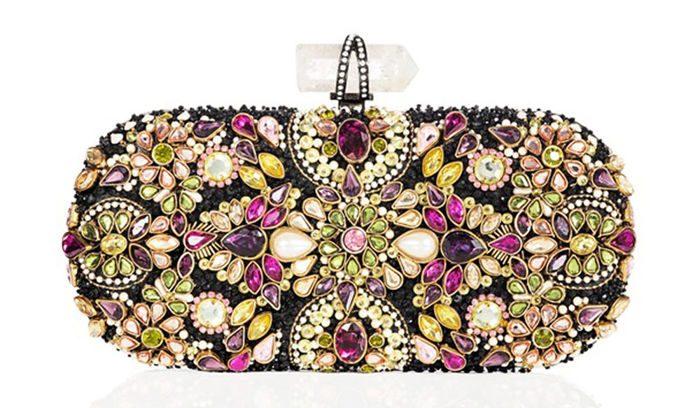 Marchesa Lily Jeweled Clutch