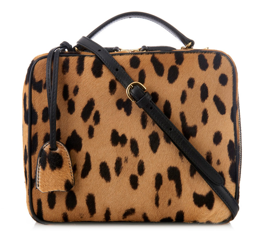 Mark Cross Lara Calf Hair Leopard Bag