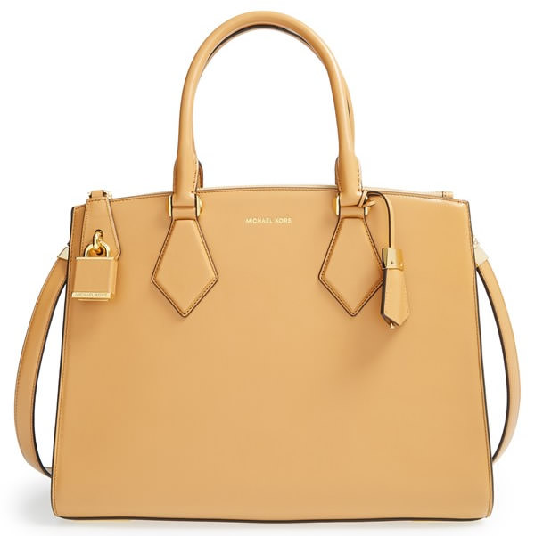 Michael Kors Large Casey Leather Satchel