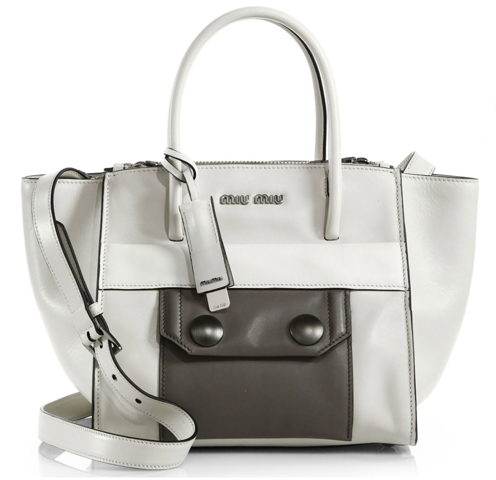 Miu Miu Colorblock Twin Pocket Tote