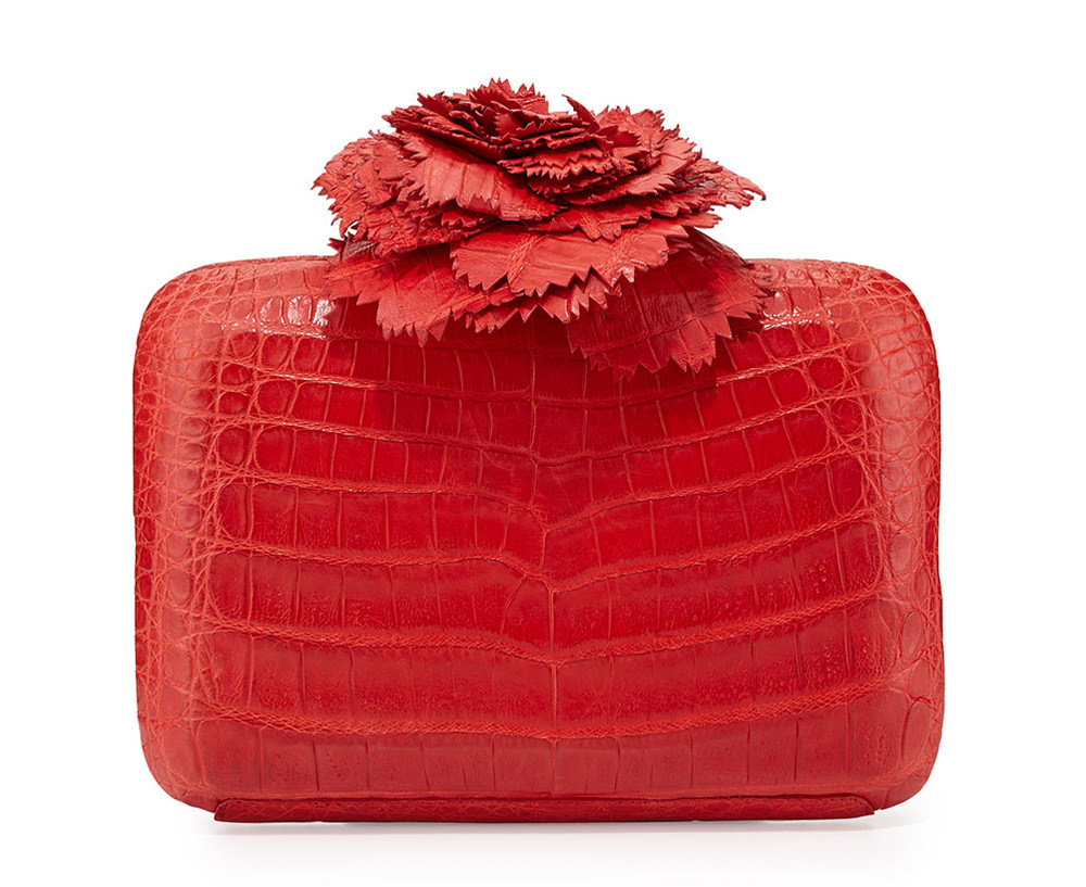 Nancy Gonzalez Crocodile Flower Minaudiere