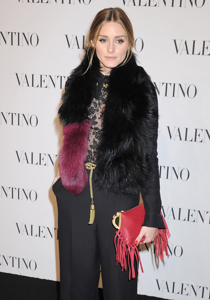 Celebrity fashion at celebration for Valentino's largest Flagship Store in NYC