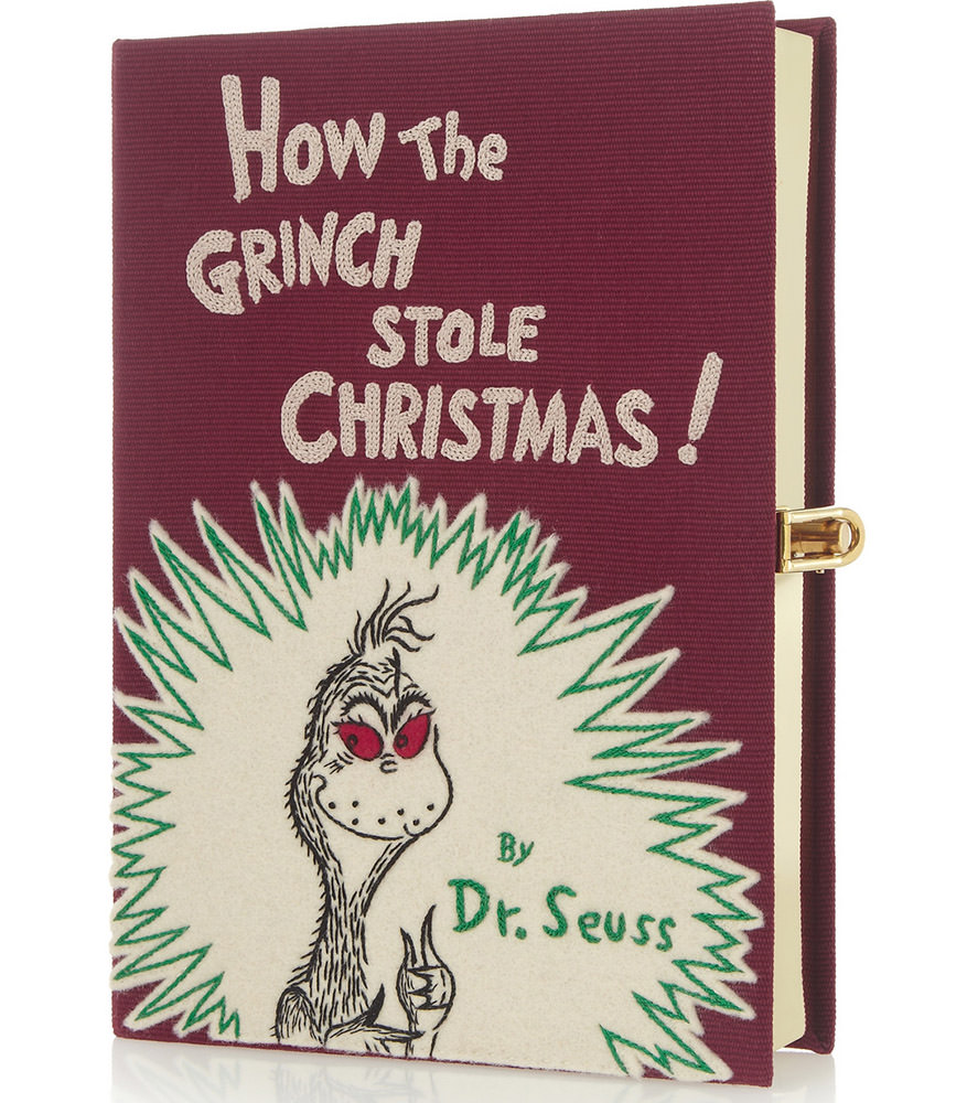 Olympia Le Tan How The Grinch Stole Christmas Embroidered Clutch