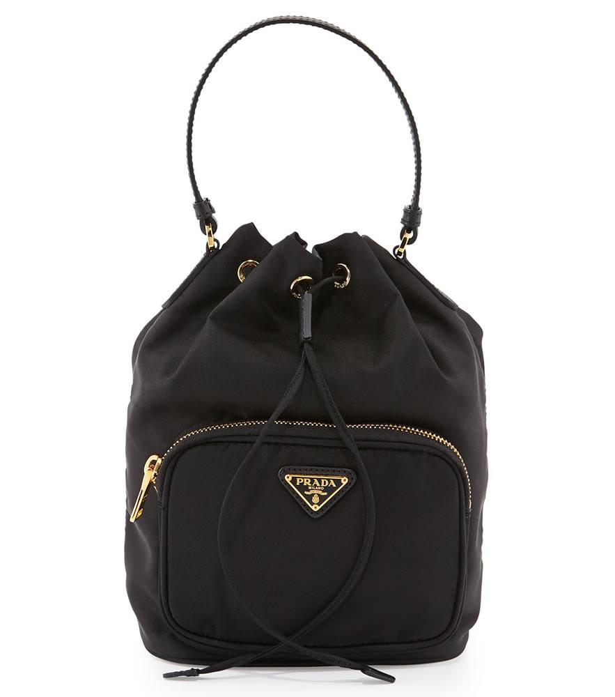Prada Tessuto Mini Bucket Crossbody Bag