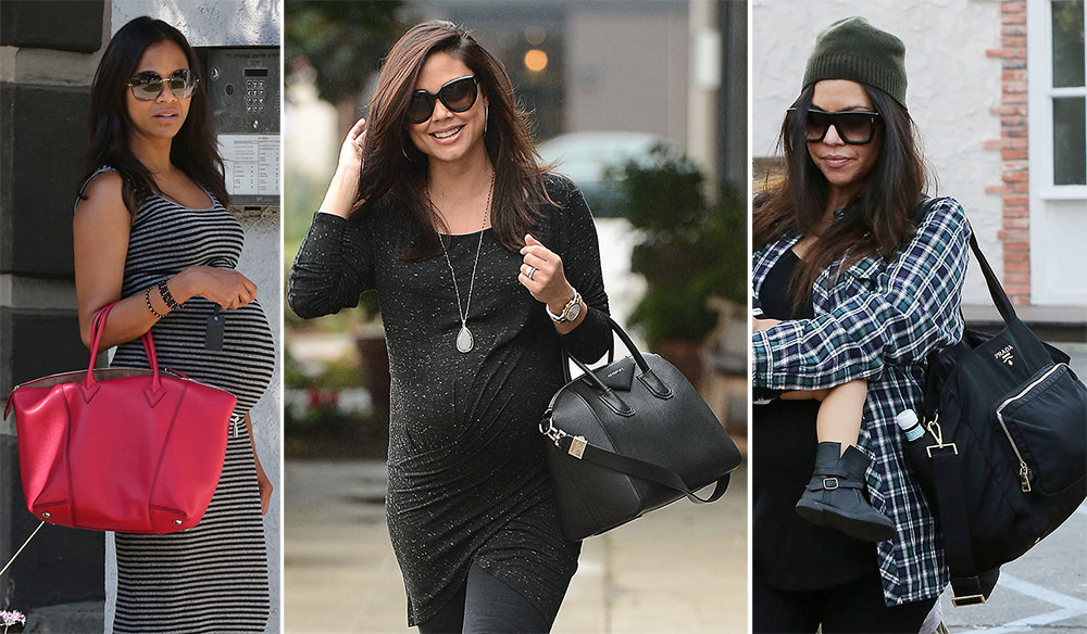 Heavily pregnant celebrity dresses