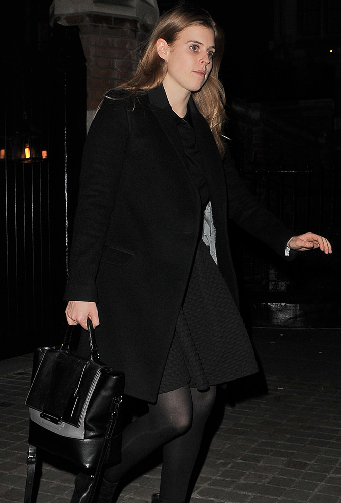 Princess Beatrice and Dave Clark leaving the Chiltern Firehouse
