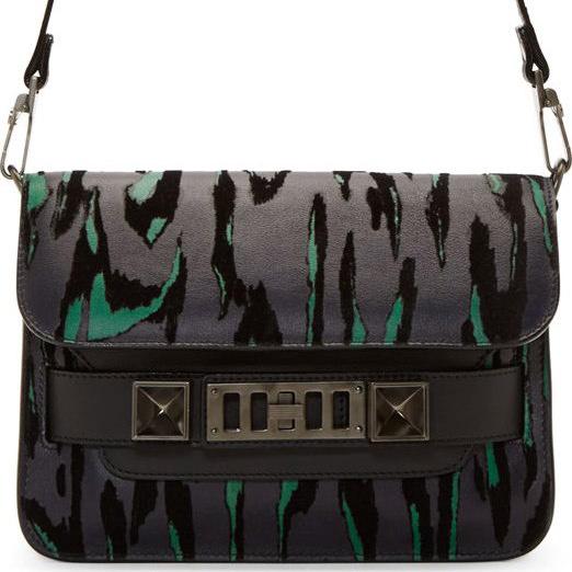 Proenza Schouler Flocked PS11 Mini Bag