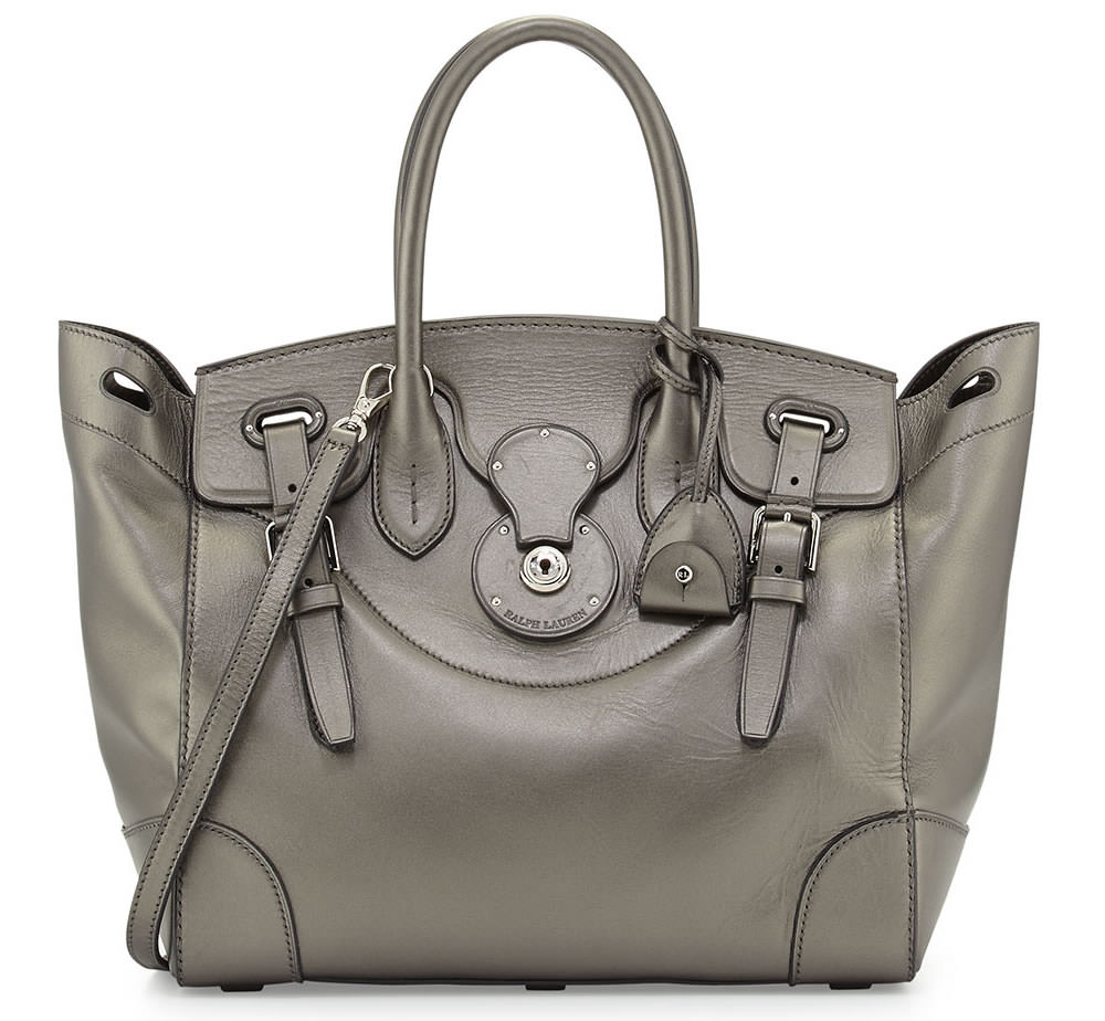 Ralph Lauren Soft Ricky 33 Calfskin Satchel Bag