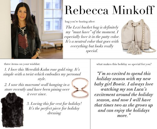 Rebecca Minkoff Holiday WishList 2014