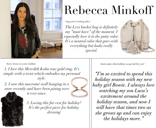 Rebecca Minkoff Holiday WishList