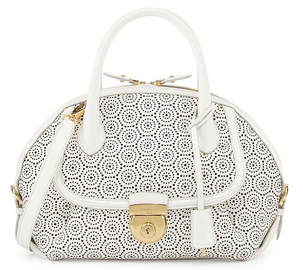 Salvatore Ferragamo Fiamma Laser-Cut Bag