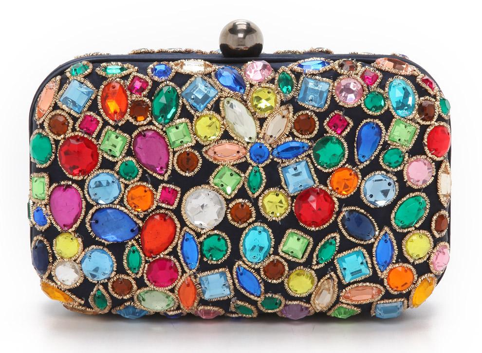 Santi Jeweled Box Clutch