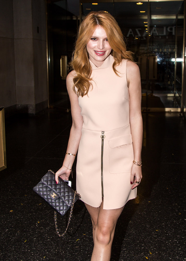 Bella Thorne is seen leaving the 'Today' show in New York City