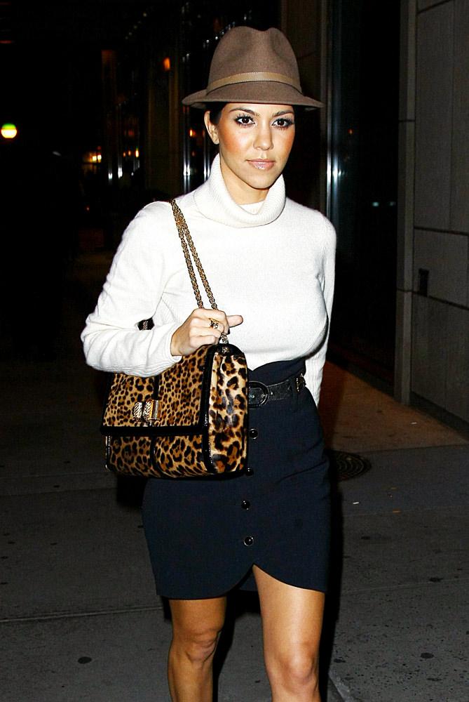 d7a253fe77 Kourtney Kardashian Takes A Walk Outside Her Hotel In NYC