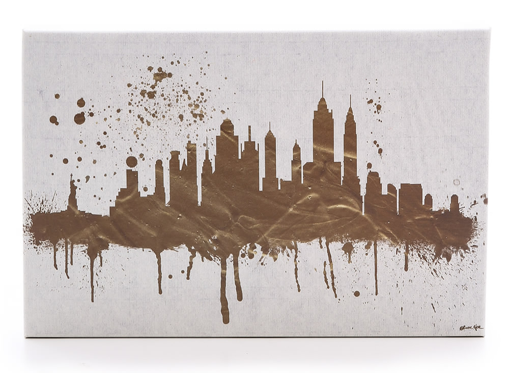 The Oliver Gal Artist Co NY Skyline Sign